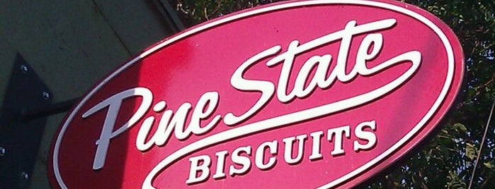 Pine State Biscuits is one of Diners, Drive-Ins, & Dives.