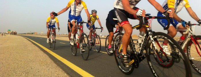 Al Qudra Desert Cycling Track is one of Gespeicherte Orte von Sayed.