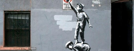 Banksy :: #1 The street is in play is one of Banksy NY.