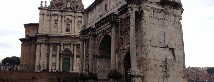 Arco di Settimio Severo is one of Marta : понравившиеся места.