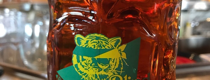 The Blind Tiger Brewery is one of KC Q and Brew.