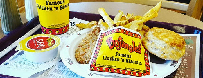 Bojangles' Famous Chicken 'n Biscuits is one of สถานที่ที่ James ถูกใจ.