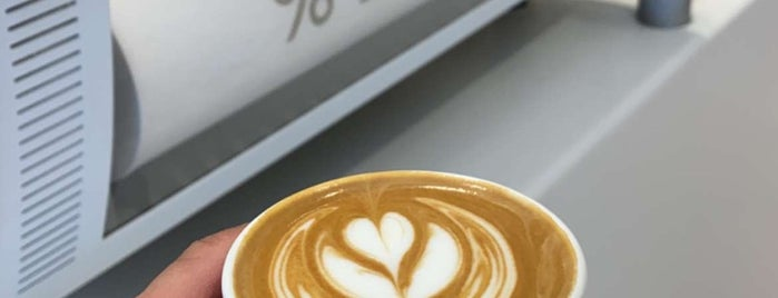 % Arabica is one of London specialty coffee.