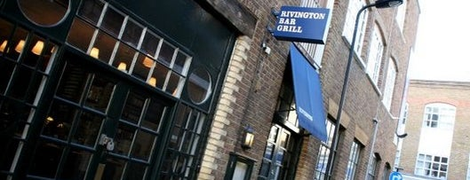 Rivington Grill Bar is one of London by Locals.