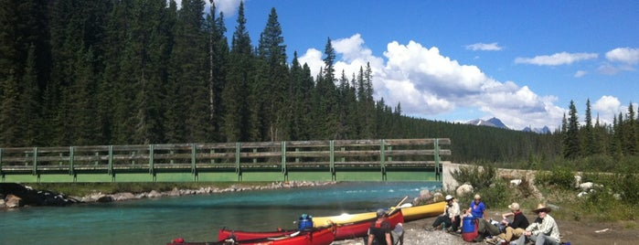 Lake Louise Campground Pedestrian Bridge is one of Orte, die Adriane gefallen.