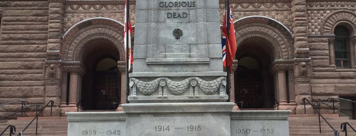 Old City Hall Cenotaph is one of Toronto, Canada.