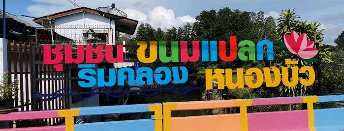 ชุมชนขนมแปลกริมคลองหนองบัว is one of Lieux qui ont plu à Kanokporn.