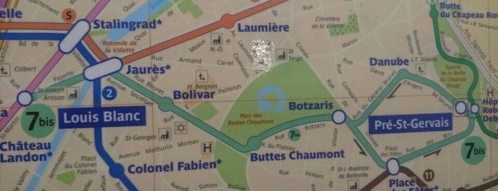 Métro Pré-Saint-Gervais [7bis] is one of Went before.