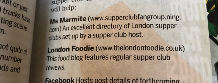 Secret Supper Club is one of London.