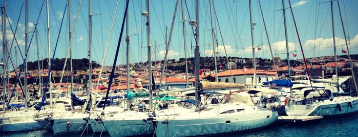 Çeşme Marina is one of themaraton.