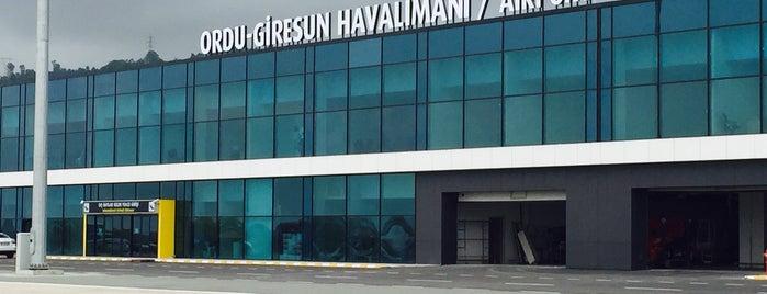 Ordu - Giresun Havalimanı (OGU) is one of Tamer'in Beğendiği Mekanlar.