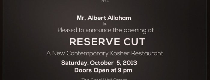 Reserve Cut is one of NYC 2013 new openings.