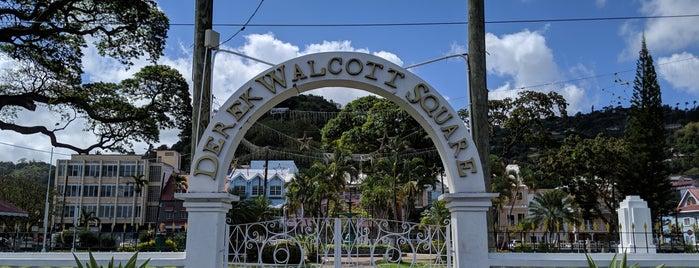 Derek Walcott Square is one of Tempat yang Disukai Andrew.