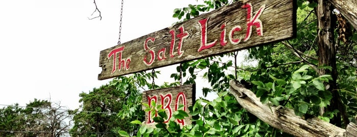 The Salt Lick is one of Austin to-dos.