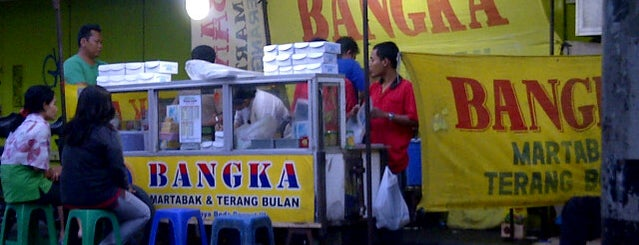 Martabak Bangka Terang Bulan is one of Deviさんの保存済みスポット.