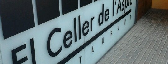El Celler de l'Àspic is one of Restaurants fora BCN.