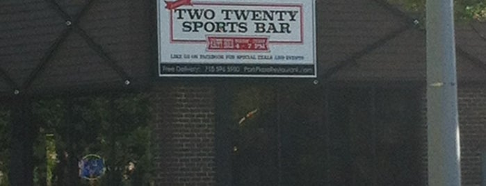 Two Twenty Sports Bar at Park Plaza Diner is one of Posti salvati di Chris.