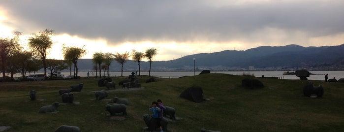 石彫公園 is one of 諏訪湖ポタ♪.