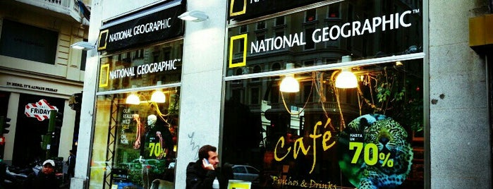 National Geographic Madrid Store is one of Great places with wi-fi!.
