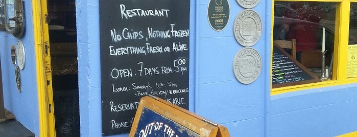 Out Of The Blue Seafood Restaurant is one of Ireland.