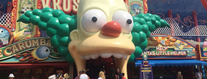 The Simpsons Ride is one of Lieux qui ont plu à Roberta.