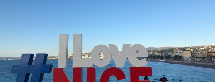 """I Love Nice"" Sign is one of Nice."