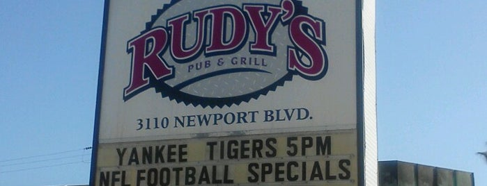 Rudy's Pub and Grill is one of Eat, drink & be merry.