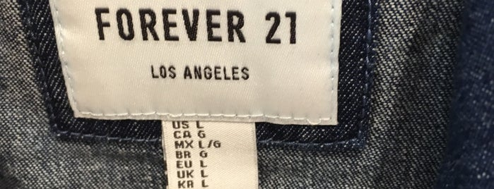 Forever 21 is one of Compras.