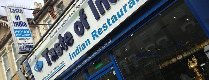 Taste Of India is one of Vegan in London.