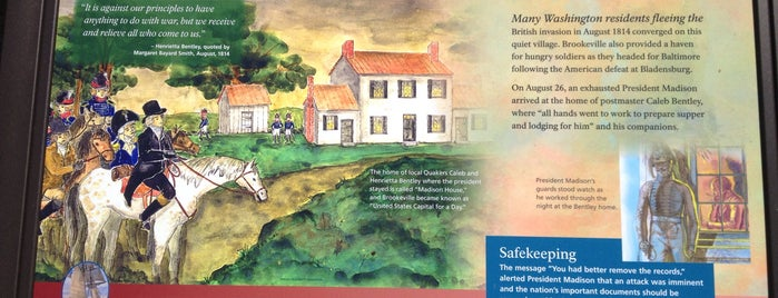 Brookeville, Maryland is one of Historic Sites & Monuments.