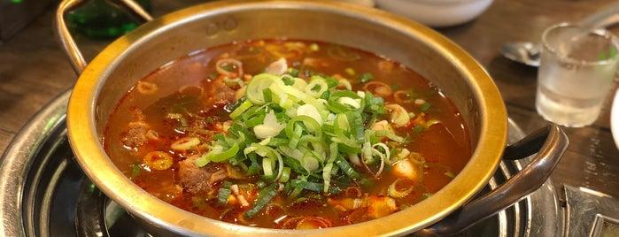 부뚜막 매운갈비찜 is one of Korean food.