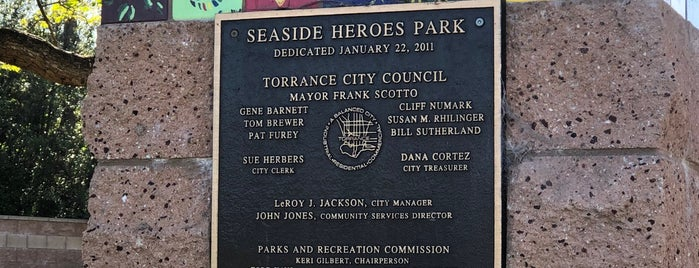 Seaside Heroes Park is one of All Places.