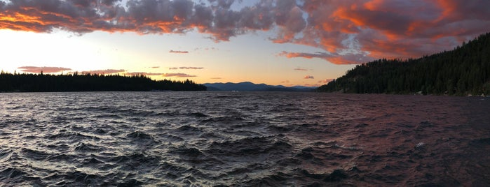 Priest Lake is one of dark skies and the northern lights.