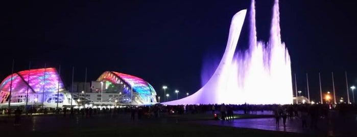 Музыкальные фонтаны. Олимпийский парк is one of FELICE : понравившиеся места.
