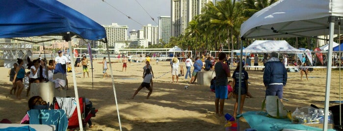 kuhio beach volleyball courts is one of The Beaches in Hawaii.