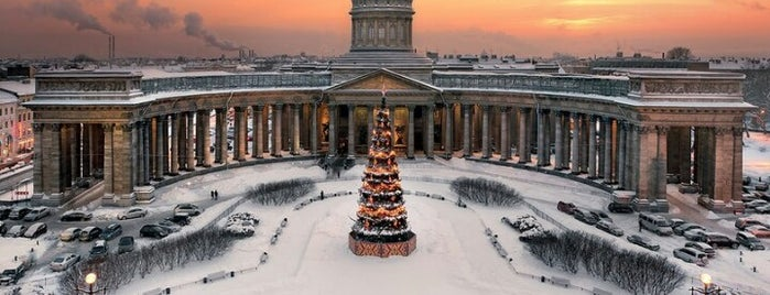 The Kazan Cathedral is one of Питер я твой.