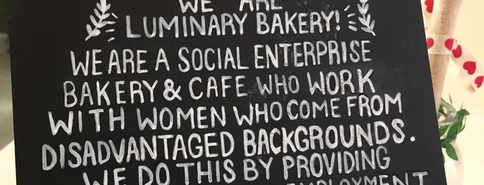 Luminary  Bakery is one of London.