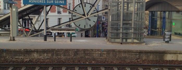 Gare SNCF d'Asnières-sur-Seine is one of Went before.