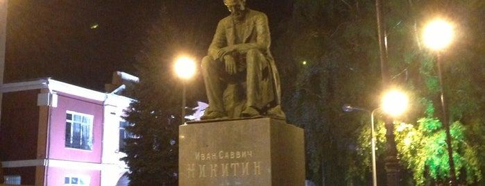 Памятник Ивану Никитину is one of VRN.