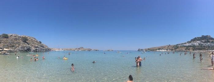 Lindos Beach is one of Posti che sono piaciuti a Alberto.