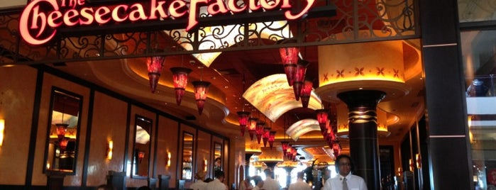 The Cheesecake Factory is one of favorites 1.