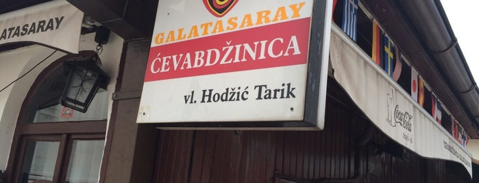 Galatasaray čevabdžinica vl. Tarik Hodžić is one of Saraybosna.