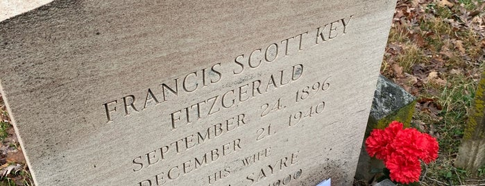 F. Scott Fitzgerald's Grave is one of Historic Sites & Monuments.