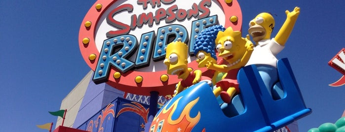 The Simpsons Ride is one of Tempat yang Disukai Ishka.