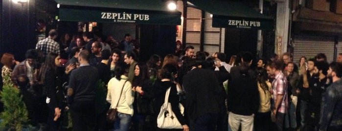Zeplin Pub & Delicatessen is one of istanbul cool places.