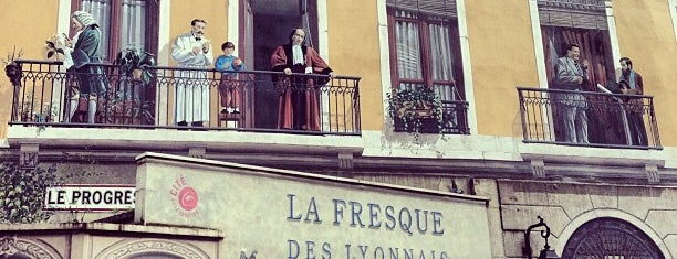 Fresque des Lyonnais is one of Lyon monuments / parcs.