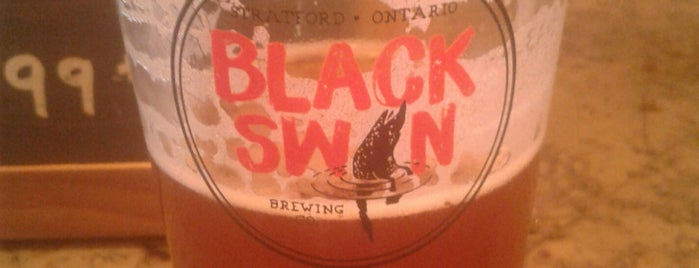Black Swan Brewing Company is one of Ontario Brewery Toury.