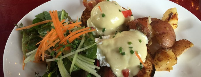 Cafe Henri - LIC is one of America's 50 Best Eggs Benedict Dishes.