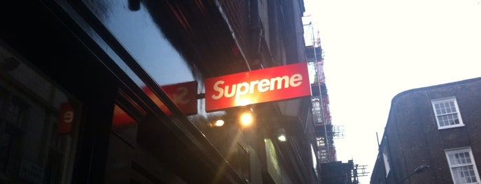 Supreme London is one of London Sneakers and Fashion.