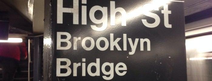 MTA Subway - High St/Brooklyn Bridge (A/C) is one of A long Walk: from Brooklyn to Manhattan.